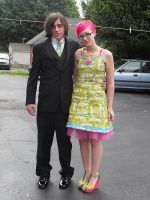 Skittles Prom Dress 2009 by Cutebutphsyco13