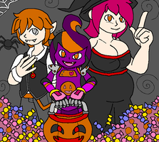 Halloween Choc and Friends 2016 by mitchika2