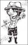 OP: Portgas D Ace . Chibi by CatiProjectC