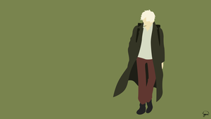 Ginko (Mushishi) Minimalist Wallpaper by greenmapple17