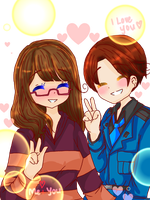 [G] A photo of you and me together~ by P-inko