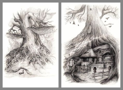 Illustrations, Pencil 2B-8B by Natamur