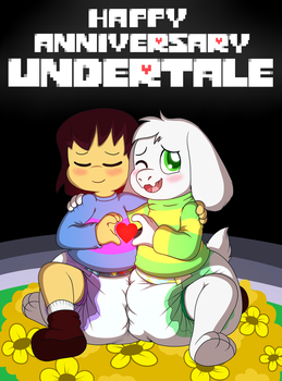 Undertale Anniversary by Hourglass-Sands