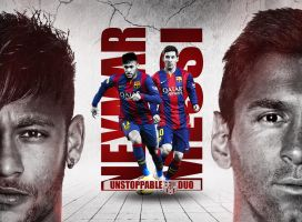Neymar and Messi Wallpaper (FC Barcelona Duo) by RakaGFX