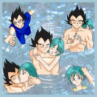 Vegeta and Bulma Moments by yashy20c