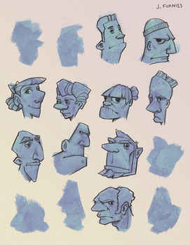 Head  Sketches by joifish