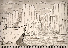 Inktober Day 2 - Nature Untouched 31dayworldbuild by SarahRichford