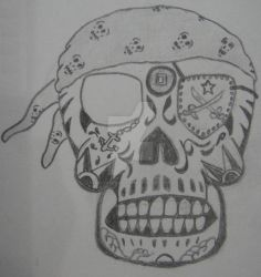 Pirate Skull A by NocturnalHouse