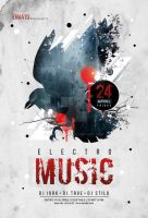 Electro Music Flyer by iorkdesign