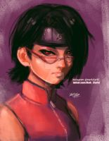 Sarada sharingan by Mark-Clark-II