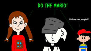 Batter, Ness and Madotsuki - DO THE MARIO! by MikeJEddyNSGamer89