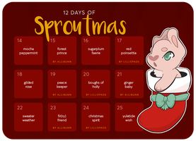 [ Sproutie Advent ] 12 Days of Sproutmas by jenbeary