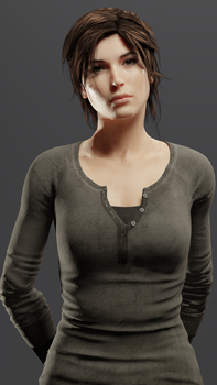 Lara Croft - Stares into your soul by saqune
