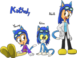 Official OC: Kathaly (all 3 forms) by JuacoProductionsArts