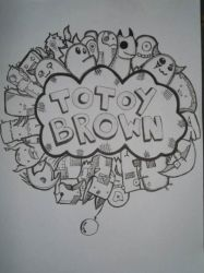 Totoy brown Doodle by janruzel
