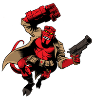 Jack Kirby Hellboy - colored by ScottEwen