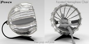 Faceted Hemisphere Chair Freebie by Poses17