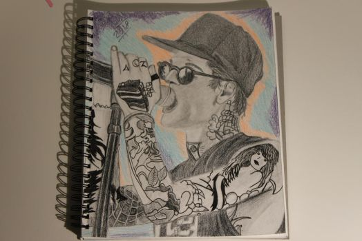 My Drawing of Jesse Rutherford from The NBHD by WolfzArt13