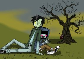 Skeet and Knaw from L4MS by TheFreakyPanda