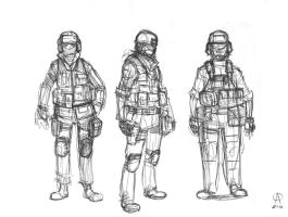 soldier sketches by azimuth-oakes