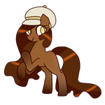Sticky Toffee Pudding Pony Adopt (OPEN) by cuttlewltch