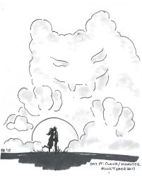 Inktober 2017, Day 19 -Cloud/Monster by Badseedshalo