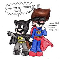 Super L and BatWolfie by BabyAbbieStar