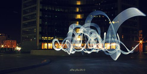 Defense's Lightpainting by Alexandre-Bordereau