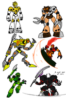 Bionicle Doodles by Kalhiki