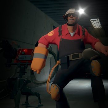 Colander hat for the engineer of Team Fortress 2 by SdZLinko