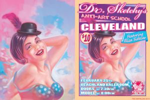 Dr Sketchy eliza poster 2up by timswit