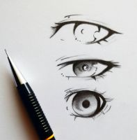 Eye Sketches by ItsArtemisa