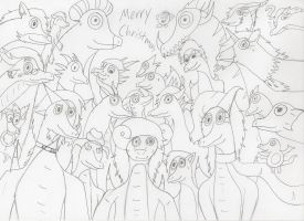 Merry Christmas Group Picture!!!!! by JacobTheDragon