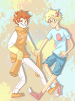 A couple of tricksters by Panic-Is-My-Rain