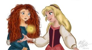 Merida X Eilonwy by bookxworm89