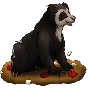 Bear on a Cookie - Commission by Nachturia