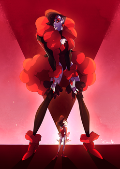 commission   Red Beryl + Red Pearl by SpadesArts