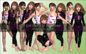 Girl Pack 1 by joannastar-stock