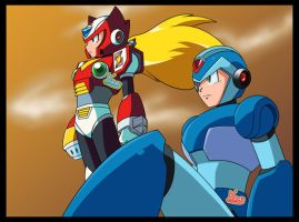 Re-Draw: Megaman X3 Ending by Kamira-Exe
