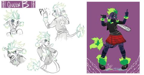 [COMMISSION SKETCH PAGE] Queen B by Llythium-art