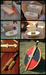Viking Sword waster construction  - part2 by Makeshitoholic