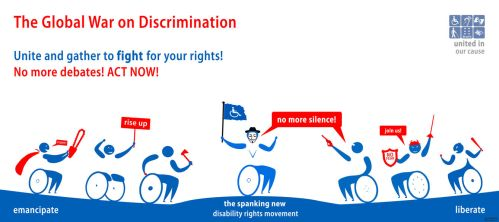 Call to action: disabled people by robodesign