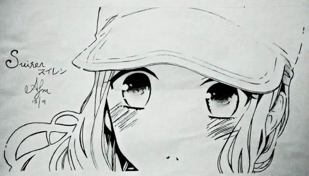 Anime Drawn In Pencil