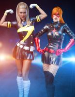 Rockettes - Majorette and Lady Crimson by CrimsonVlkyrie