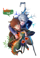 Hiccup and Jack by ColnChen
