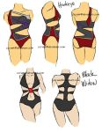 Hawkeye and Black Widow Swimsuits by ccRask