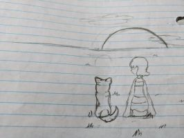 Frisk and The Annoying Dog by Naturevulpex