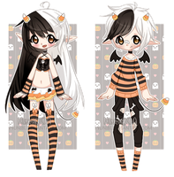 +Candy Corn Demon Adoptables [ CLOSED ] by Hunibi