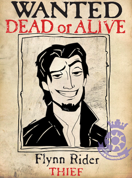 Flynn Rider Wanted Poster by AyameClyne