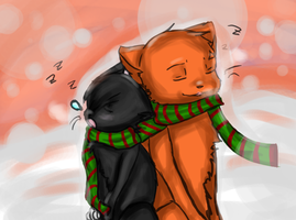Scourge and Firestar Christmas by AlliRyo